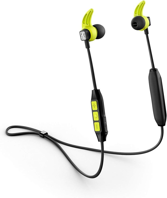 Sennheiser CX Sport - Auricular instáurales inalámbrico para deportes, color negro y amarillo