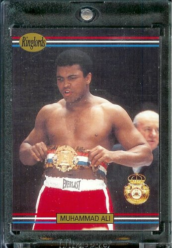 1991 RingLords Muhammad Ali Boxing Card #40 - Mint Condition - In Protective Display Case!