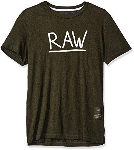 G-Star Raw Men's Manes Short Sleeve Logo T-shirt,ForestNightHeather,Large