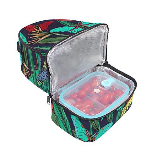 à Sac avec Alinlo l'école lunch Papillon réglable pour isotherme bandoulière Tote Pincnic à Cooler Boîte rIOIq8
