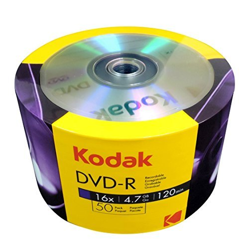 KODAK DVD-R 16x 4.7GB 50-Value Pack by Kodak
