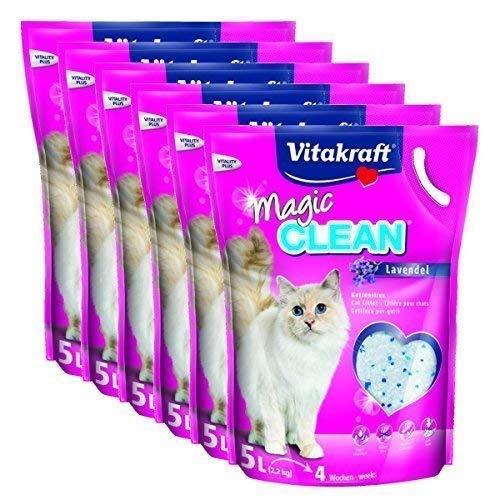 Vitakraft Litière pour chat Magic propre Lavande - 6 x 5 LITRES