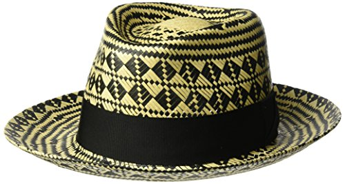 f5d3f5aaa6fd0c Bailey of Hollywood Men's Hartley Contrast Patterned Weave Fedora Hat