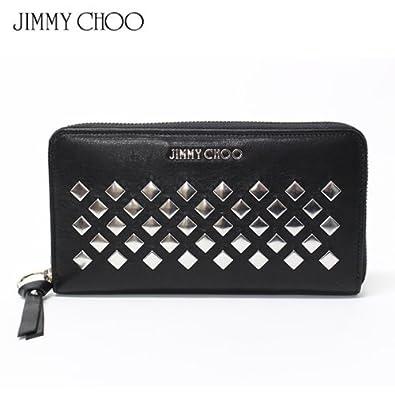 4c6a882cf221 (ジミーチュウ) JIMMY CHOO 長財布 スクエアスタッズ 『PIPPA』 BLACK PIPPA LAZ