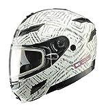 GMAX GM54S DSG Aztec Mens Street Motorcycle Helmet - White X-Large