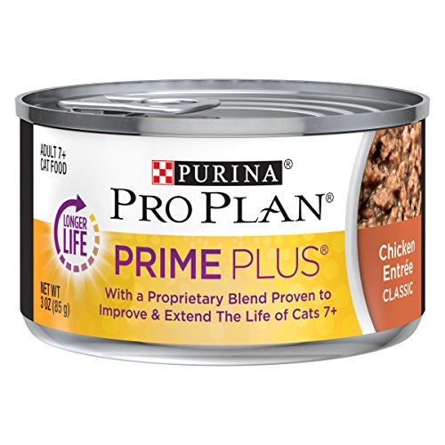 Purina Pro Plan Prime Plus Grain Free Classic Chicken Entree Adult 7+ Wet Cat Food - (24) 3 Oz. Pull-Top Cans