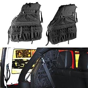 2x Roll Bar Storage Bag Cage For 2007~2017 Jeep Wrangler JK 4 Door With  Multi Pockets U0026 Organizers U0026 Cargo Bag Saddlebag Tool Kits Holder