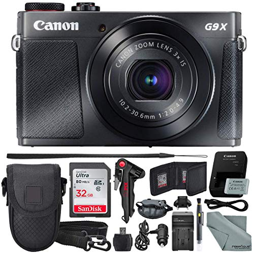 Canon PowerShot G9 X Mark II Digital Camera (Black) W/ 32GB SD Card, and Basic Accessory Bundle from Canon