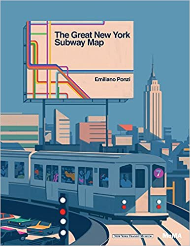 Subway Map For New York City.The Great New York Subway Map Emiliano Ponzi 9781633450257 Amazon