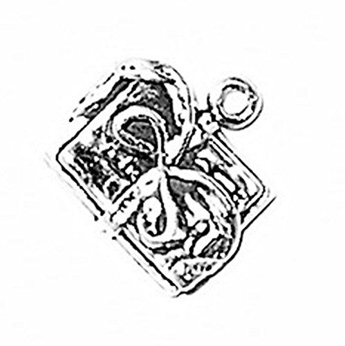 925 Sterling Silver Classic Hobby Knotted Scrapbook Charm For Bracelet/Necklace