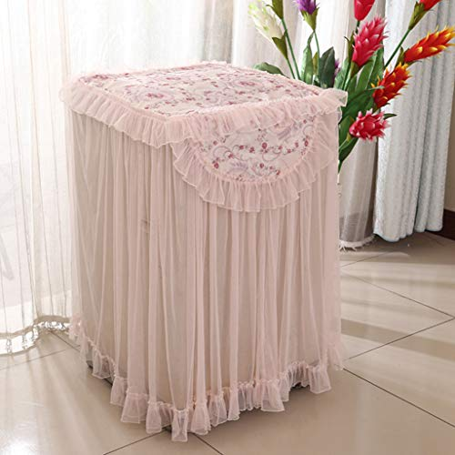 Aobiny Washing Machine Dust Cover,Lace Ruffle Floral Washing Machine Dust Cover Protection Front Durable Soft Home (MulticolorC)