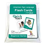 ASL Flash Cards - Quick Start Pack - Learn Fun, Useful Signs with Vinyl Storage Pouch - English, Spanish and American Sign Language (American Sign Language Flash Cards) (English and Spanish Edition)