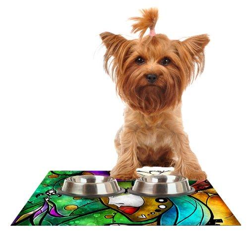 Kess InHouse Mandie Manzano Nola  Feeding Mat for Pet Bowl, 18 by 13-Inch