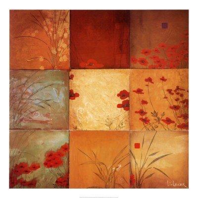 Poppy Nine Patch by Don Li-Leger - 39.5x39.5 Inches - Art Print ()