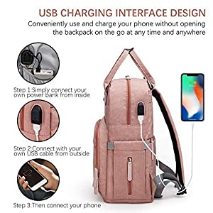 Diaper Bag Backpack Upsimples Multi-Function Maternity Nappy Bags for Mom&Dad, Baby Bag with Laptop Pocket,USB Charging…