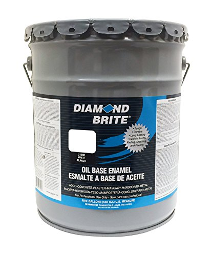 Diamond Brite Paint 31000 5-Gallon Oil Base All Purpose Enamel Paint   White