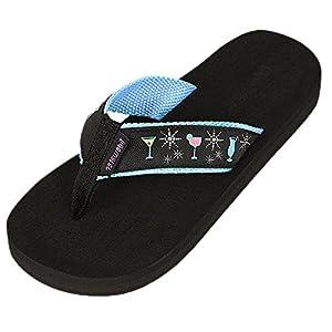 Tidewater Women's Boardwalk Flip Flop Sandals,6 B(M) US,Glamour Cocktail