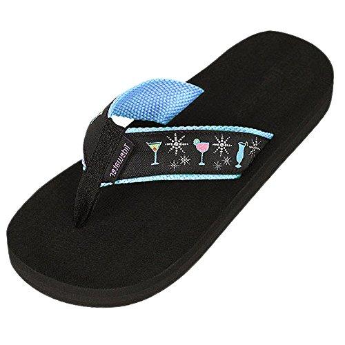 Womens Tidewater Boardwalk Flip Flop Sandals 9 B M  Us Glamour Cocktail