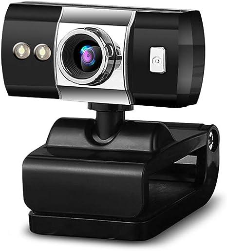 Web CAM, cámara Web USB HD con micrófono, Rotary Noche Ajuste de luz LED Drive, Apto para Notebook/LCD del Ordenador/televisor/Monitor CRT,Negro: Amazon.es: Deportes y aire libre