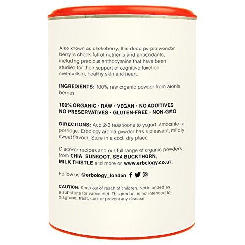 Organic Aronia Powder 5.3 oz Rich in Anthocyanins For Healthy Heart Chokeberry Raw Gluten free