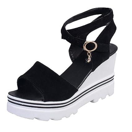 ca6314075 Dreamyth-Shoes Women Summer Pumps Platform Sandals Roman Wedges Casual Peep  Toe Sandals (⭐