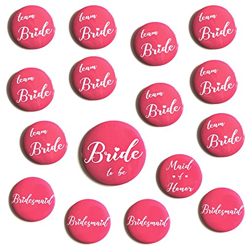 16 Bachelorette Party,Badges Bridal Party Pins, Wedding Party Buttons -