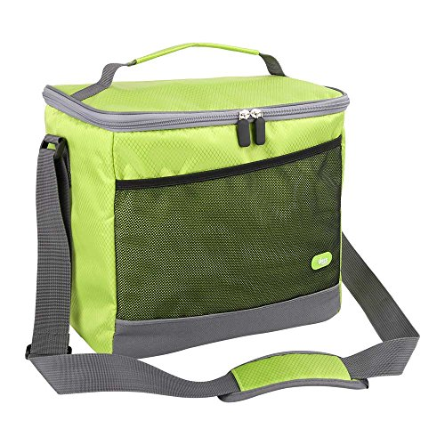Weeds Cooler Bag, Large Capacity Picnic Bag, Green Square Handle and Shoulder Style Soft Cooler, for Camping, Beach, Outdoor Sporting ()
