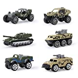 Coolplay Inertia Toy Die-cast Military Toy, Set of 6 Assorted Vehicles Alloy Play Car Army Transport Truck Models - a Fun Set for Playing or Collecting Toy for Kids
