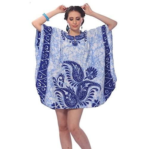 7589c07b3c durable modeling Women's Beachwear Swimsuit Swimwear Dress Cover up R Blue  Caftan US: 14 -