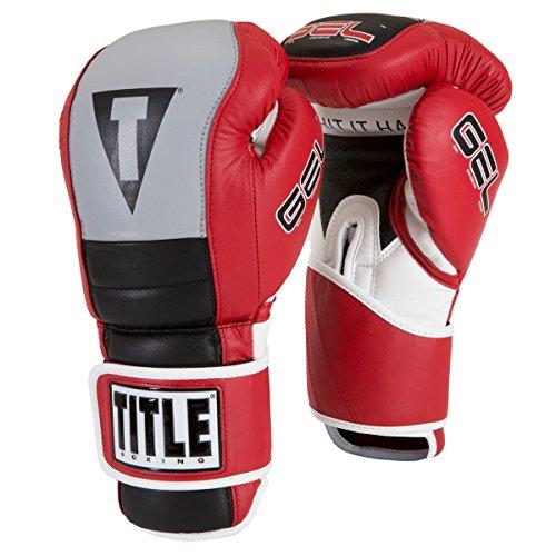TITLE GEL Rush Bag Gloves, Red/Gray/Black, 16 oz