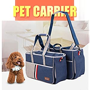 Pet Carrier,Petera Fashion Pet Dog Carriers Luxury Cat Travel Carrying Handbag,Airline Approved Travel Soft Sided Pet Carrier for Dogs, Cats and Puppies (M)