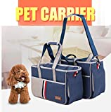Pet Carrier - Petera Fashion Pet Dog Carriers Luxury Cat Travel Carrying Handbag - Airline Approved Travel Soft Sided Pet Carrier for Dogs - Cats and Puppies (L)