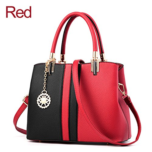 Red Heavy a Leather Borsa Womens tracolla xXCSwEqWOE