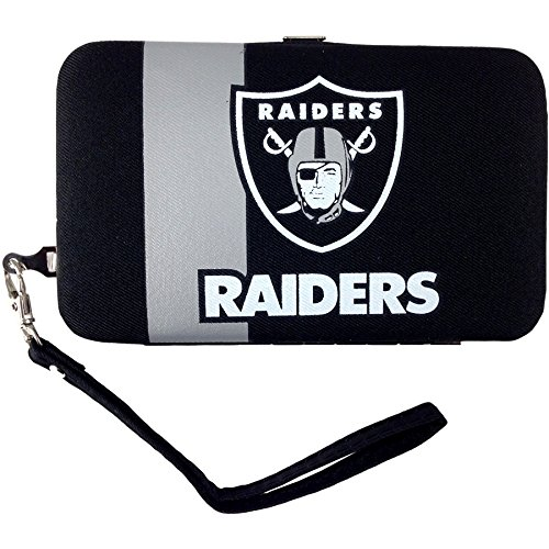 Oakland Raiders Card Holder (NFL Oakland Raiders Distressed Logo Shell Wristlet)