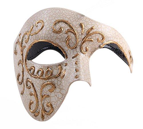 Luxury Mask Phantom Of The Opera Half Face Masquerade Mask Vintage Design -