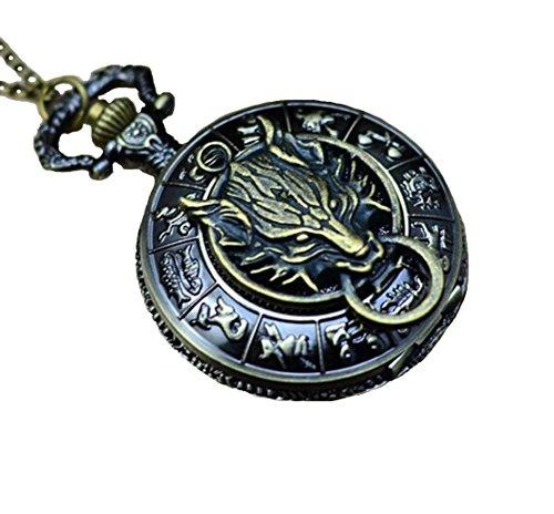 antique-brass-zodiac-pocket-watch-with-wolf-head-pendantwolf-necklace