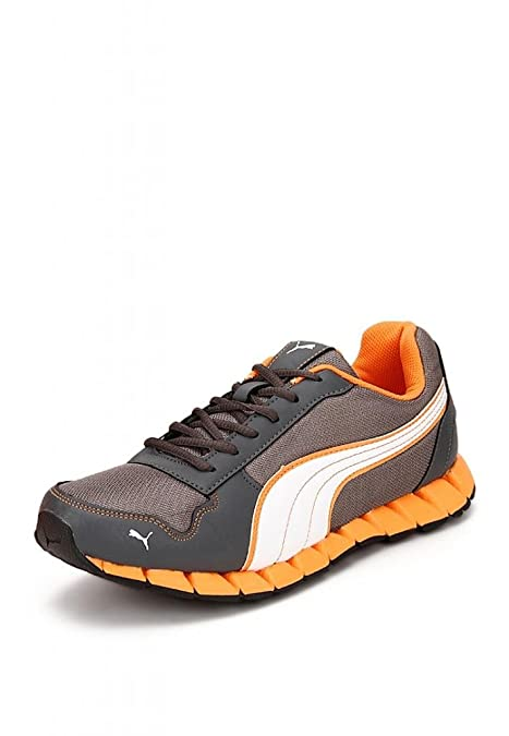 a282f3a346e7eb Puma Men s Kevler DP Steel Grey and Dandelion Boat Shoes - 11 UK India(