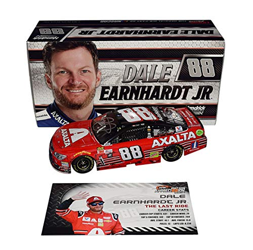 (AUTOGRAPHED 2017 Dale Earnhardt Jr. #88 Axalta HOMESTEAD FINAL RIDE RACED VERSION (The Last Ride) Monster Energy Series Signed Lionel 1/24 Scale NASCAR Diecast Car with COA (1 of only)