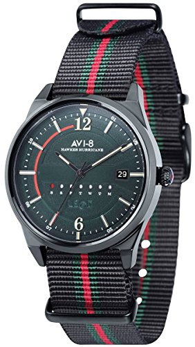 AVI-8 Mens Hawker Hurricane Watch - Black/Red