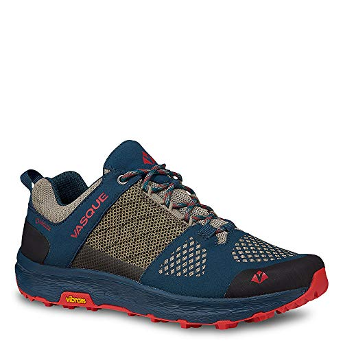 (Vasque Women's Breeze LT Low GTX Hiking Shoe (8, Majolica Blue/Red Clay))