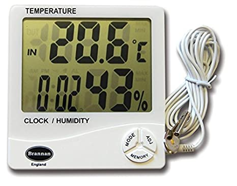 Jumbo - Max Min termómetro Digital ideal termómetro de efecto invernadero: Amazon.es: Jardín