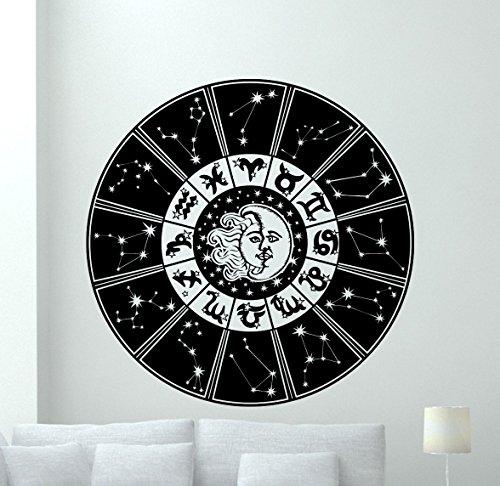 Zodiac Signs Wall Decal Astrology Horoscope Sun Moon