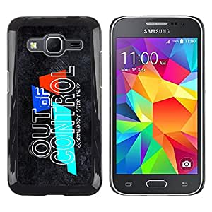 LECELL -- Funda protectora / Cubierta / Piel For Samsung Galaxy Core Prime SM-G360 -- Out Of Control --