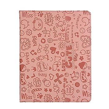 iPad 4 Case, KolorFish [iLove] Cartoon Love Printed Funky Designer Embossed PU Leather [Auto Wake/Sleep] Book Type Case Cover for Apple iPad 2, iPad 3
