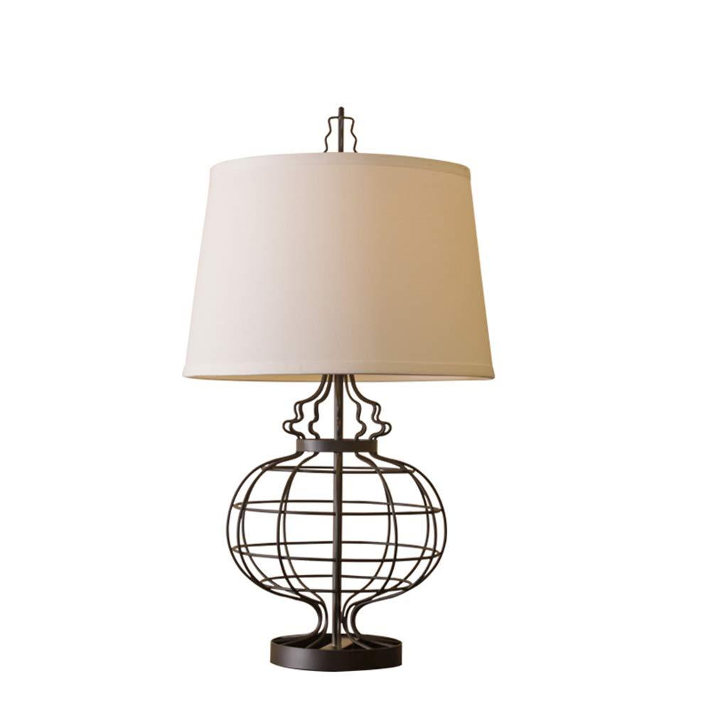 Im amerikanischen Stil Stil kreative Tischlampe Eisen Licht Körper Tuch Lampenschirm Schlafzimmer Wohnzimmer Tischlampe