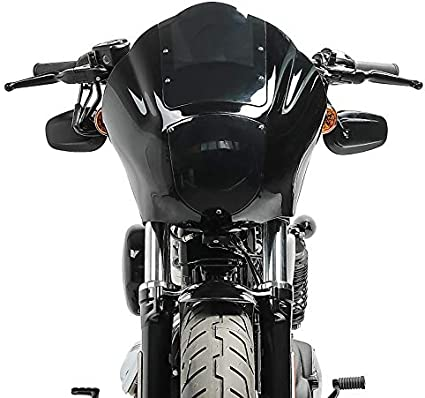 Lampenmaske Mg8 Für Harley Dyna Street Bob 06 17 Lampen Verkleidung Rauchgrau Auto