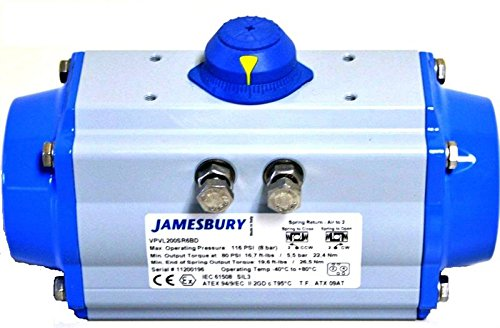 Jamesbury VPVL400SR6BHTLDD Rack and Pinion Actuator, Size 400, Aluminum