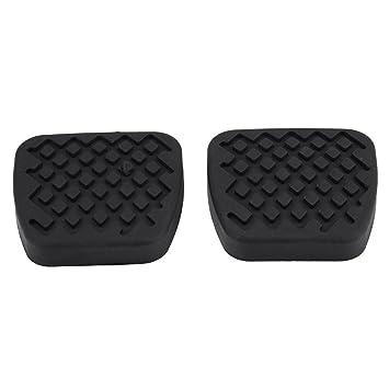 Pastillas de pedal de embrague de freno, 1 par de funda de goma de la