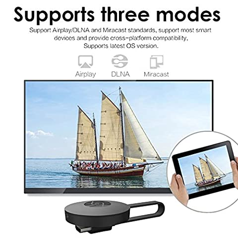 Rumfo G2 1080P Wifi Display Dongle Converter Adapter For Google Chromecast 2 Digital HD HDMI Media Player Video Streamer 2015 2nd Generation Device for TV (Chromecast Tv Adapter)