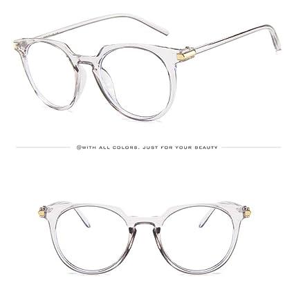 2452dfee209b9 Amazon.com  AMOFINY Fashion Glasses Fashion Oval Round Clear Lens Vintage  Geek Nerd Retro Style Metal Frame  Clothing